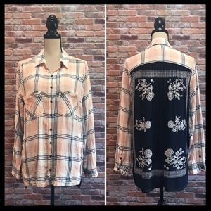 Free People Behind The Flannel Bandana Shirt
